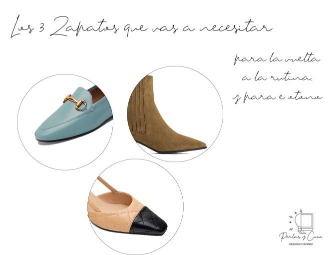 Tres zapatos que necesitas