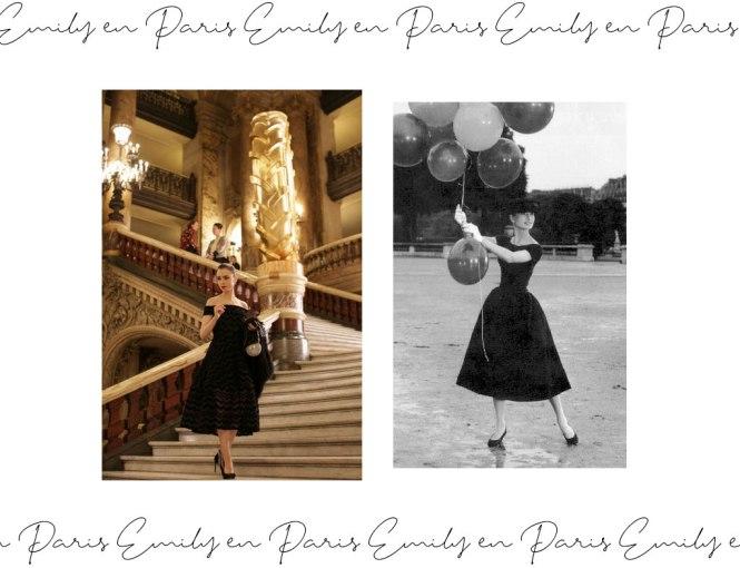 Emily en París referencia a Audrey Hepburn con su LBD de Givenchy