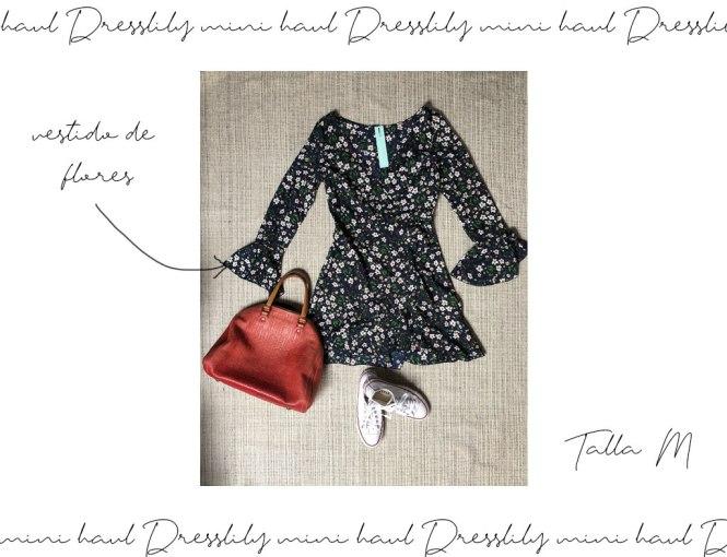 Vestido cruzado de flores de Dresslily