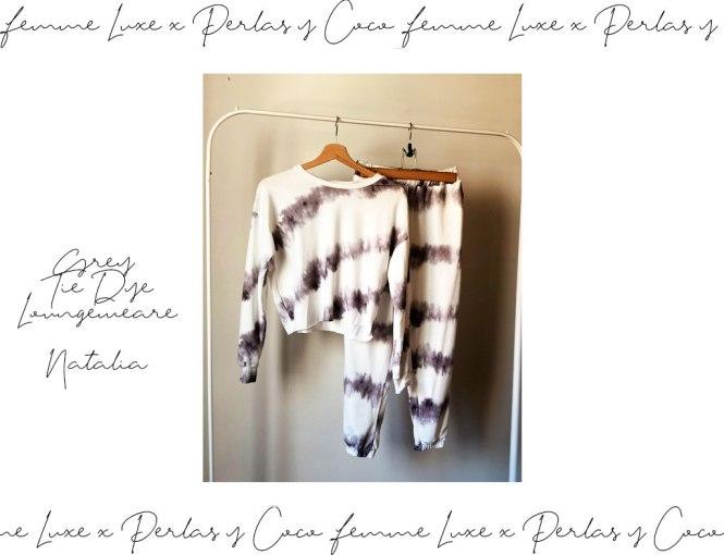 Set de Loungewear tie dye de Femme Luxe