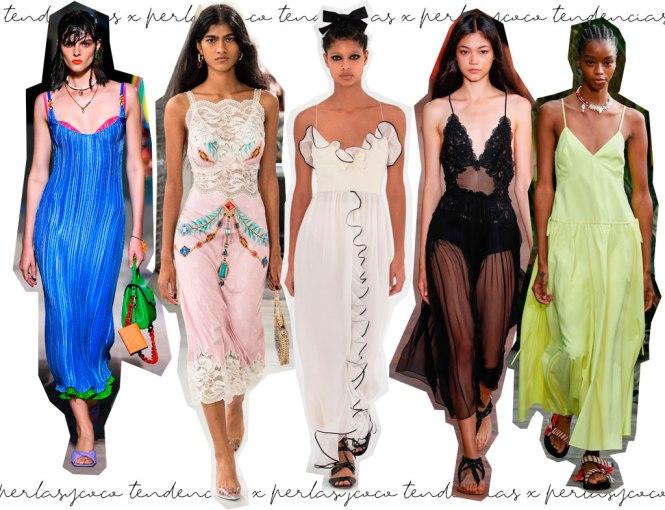 Slip Dress tendencias pasarela