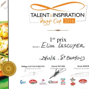 Talent & Inspiration Pizza Cup 2016 - Elisa Lescuyer