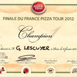 Champion France Pizza Tour 2012 - Georges Lescuyer