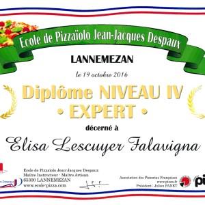 Diplôme niveau IV Expert - Elisa Lescuyer Falavigna