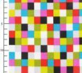 Coton enduit Pixels Multicolore x10cm