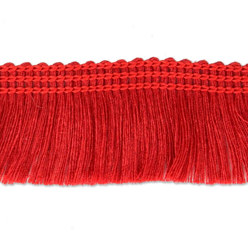 galon franges pour la creation de bijoux et la customisation 25 mm rouge x1m