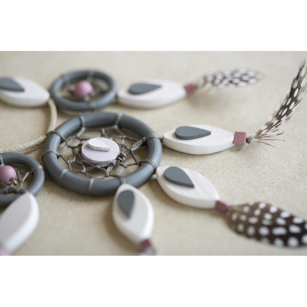set de 4 anneaux en bois brut naturel pour bijoux deco rideaux 50 mm x1