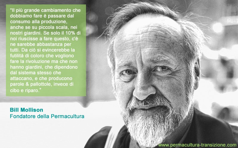 La permacultura come movimento globale secondo Bill Mollison