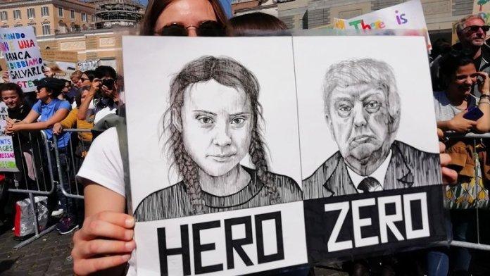 Greta Thunberg Roma Fridays for future
