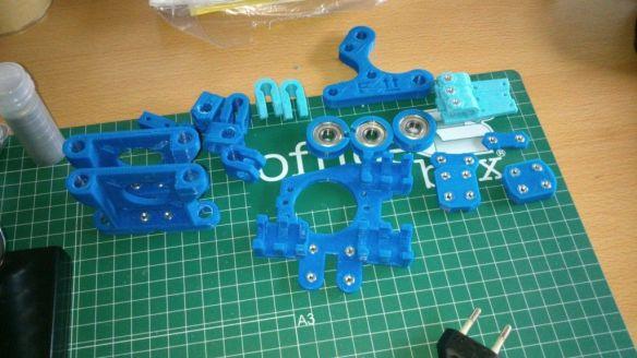 Preparando las piezas