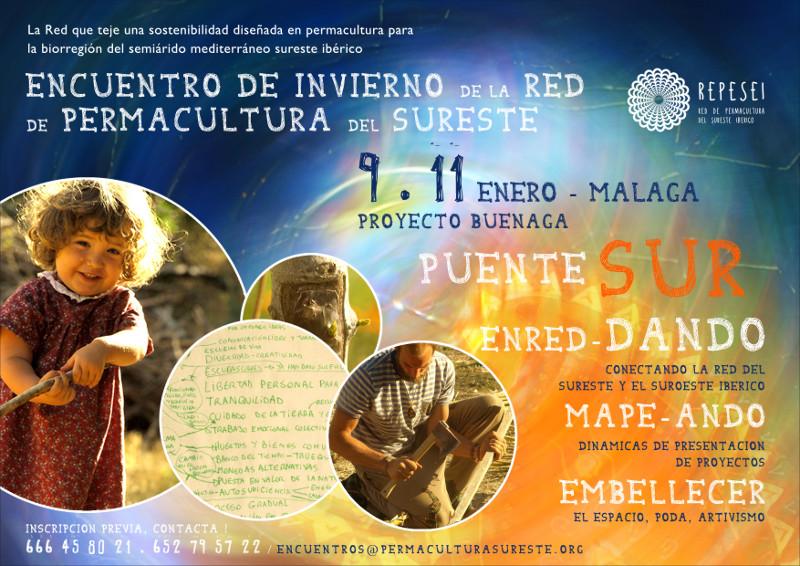 Cartel del encuentro invierno 2014 - Finca Del Palo en Buénaga