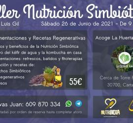 Cartel Taller Nutrición Simbiótica: recetas regenerativas