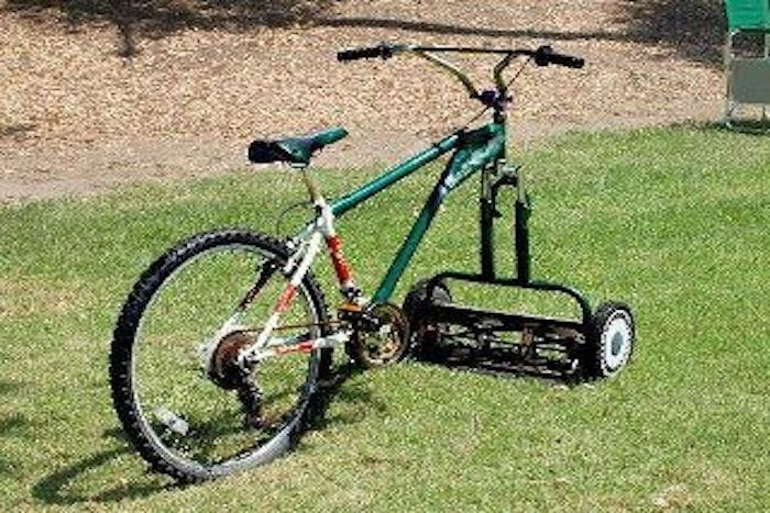 Fahrrad Rasenmäher