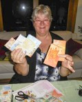 8 Finished packs shown by Annette A sense of accomplishment