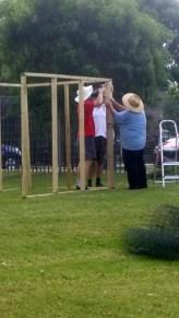 Frame goes up