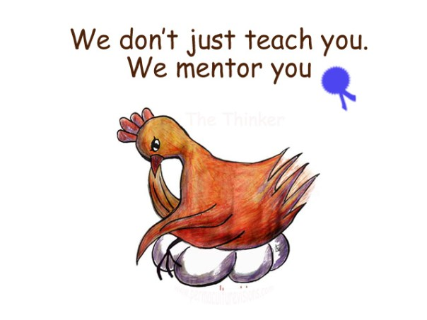 we don't just teach we mentor