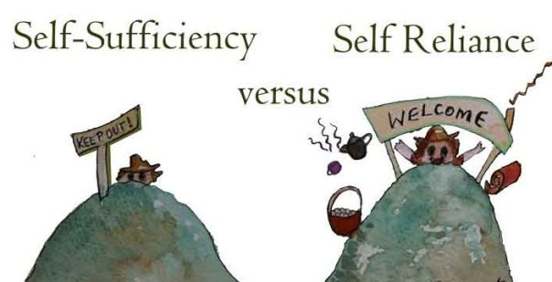 difference between self-reliance and self-sufficiency
