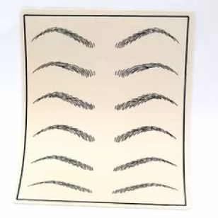 China Permanent Makeup Eyebrow Practice Sheets Leather Soft Feeling Skin supplier