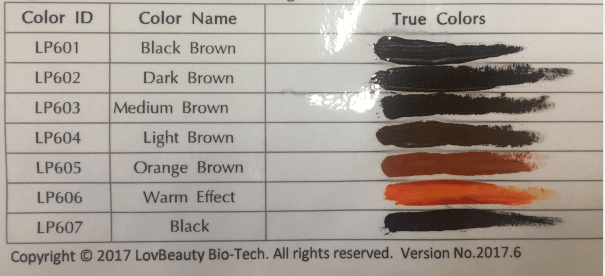 LovBeauty PMU Pigment Organic Micro pigmentation For Permanent Makeup Cosmetic Tattoo Ink