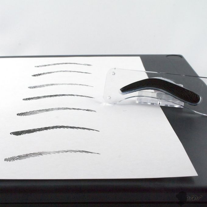 Professional Eyebrow Shaping Tools , Stamp 3D Embroidery Eyebrow Template Stencil