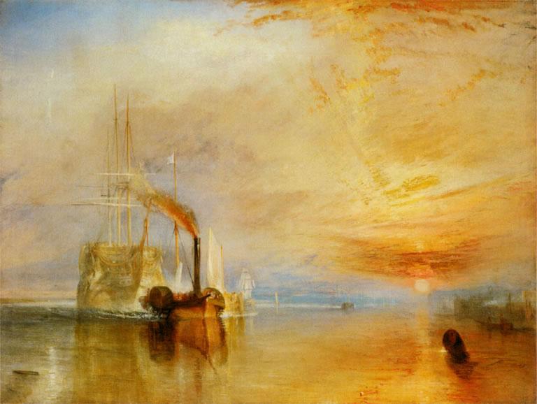 William Turner 1838 - Temeraire gerra untziaren azken bidaia, desegitera eramana