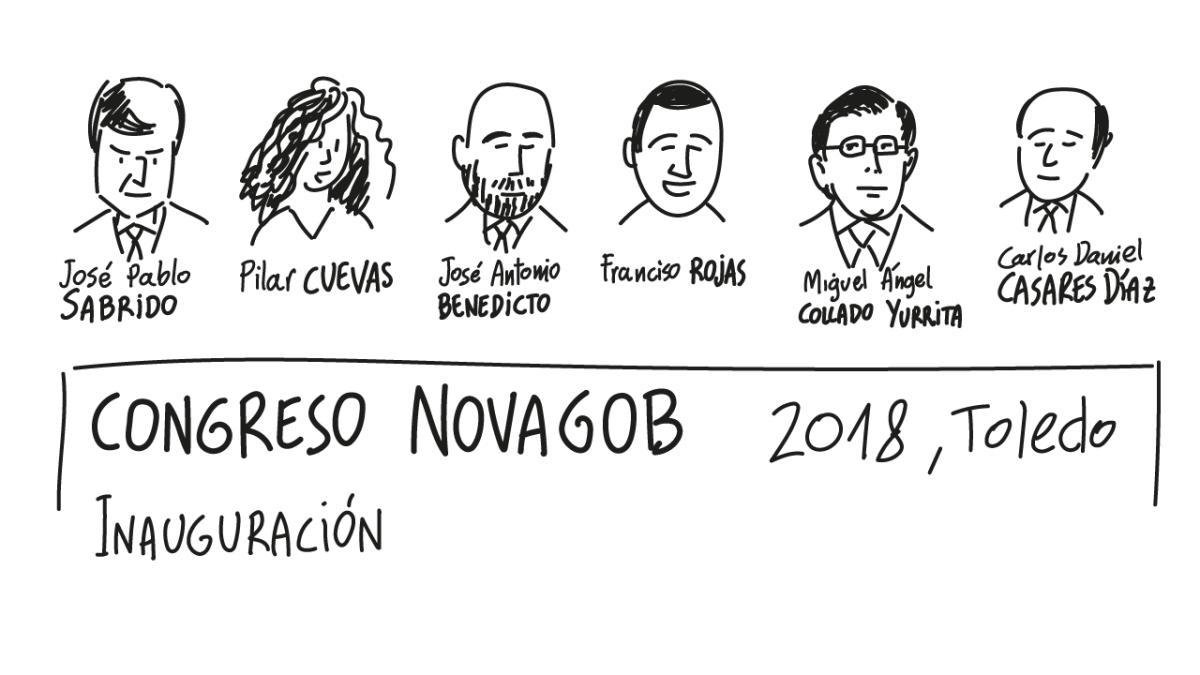Dibujando en Congreso NovaGob 2018, día 1