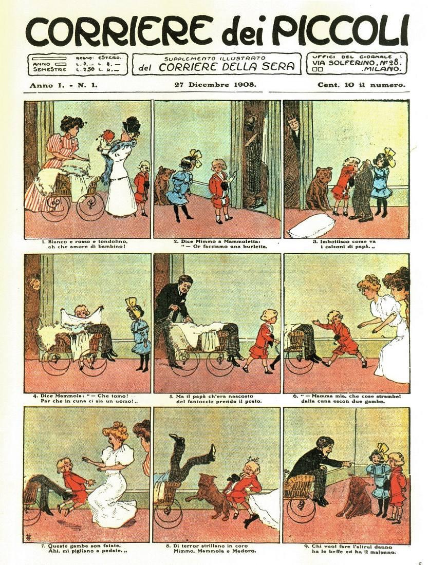 Il primo numero del Corriere dei Piccoli