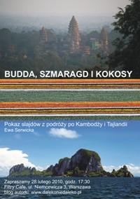 Plakat Budda szmaragd i kokosy