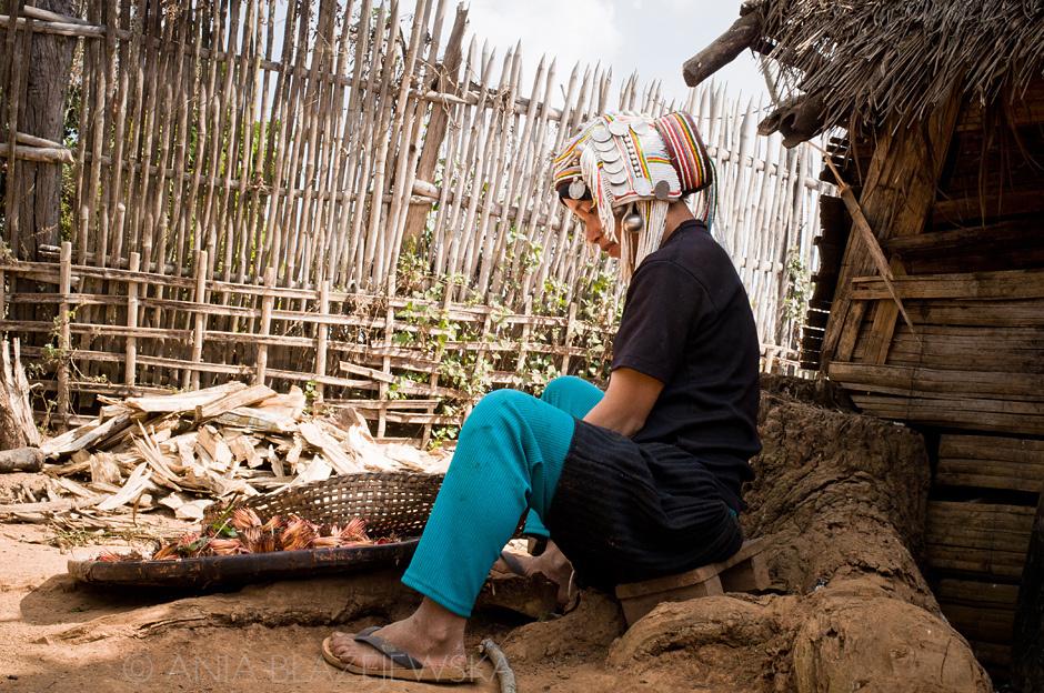 Birma - kobieta z ludu Akha