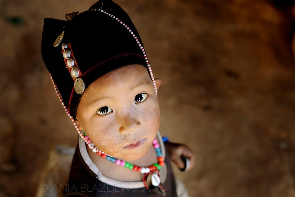 Birma - dziecko z ludu Akha