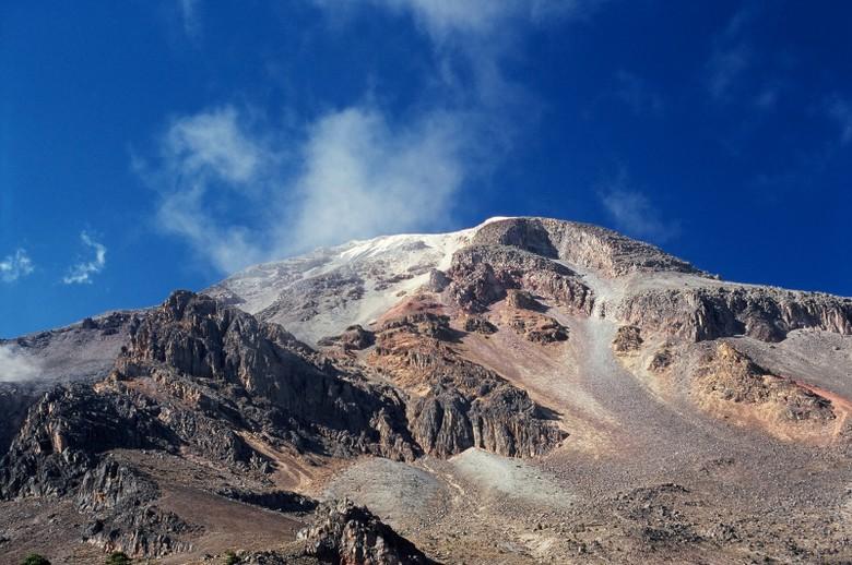 To było nasze drugie podejście na szczyt wulkanu Orizaba. Tym razem od szczytu dzieliło nas 50-100 m. (Fot. Marcin Kruczyk)