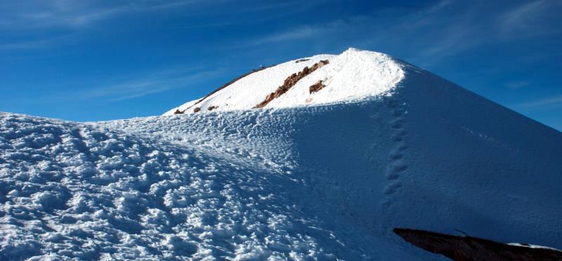 Partie szczytowe Orizaby - najwyższego szczytu Meksyku. (Fot. Marcin Kruczyk)