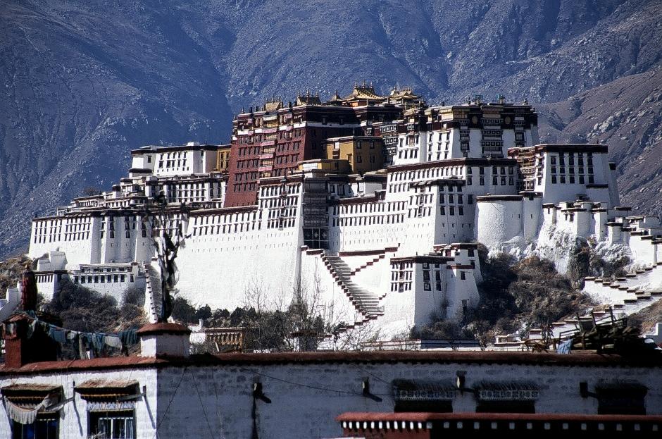 Zdjęcia z Tybetu - Pałac Potala w Lhasie