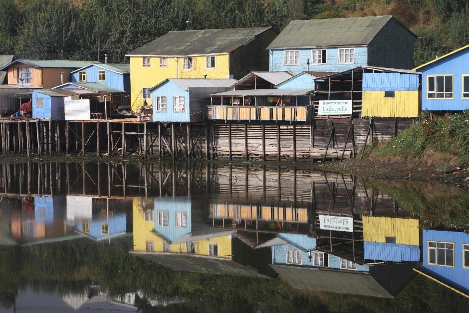 Miasteczko Castro na chilijskiej wyspie Chiloe