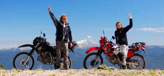 Amerykę Południową Marta i Bartek przejechali na motocyklach.