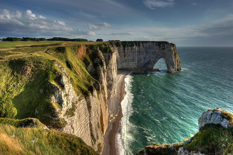Klify w Normandii