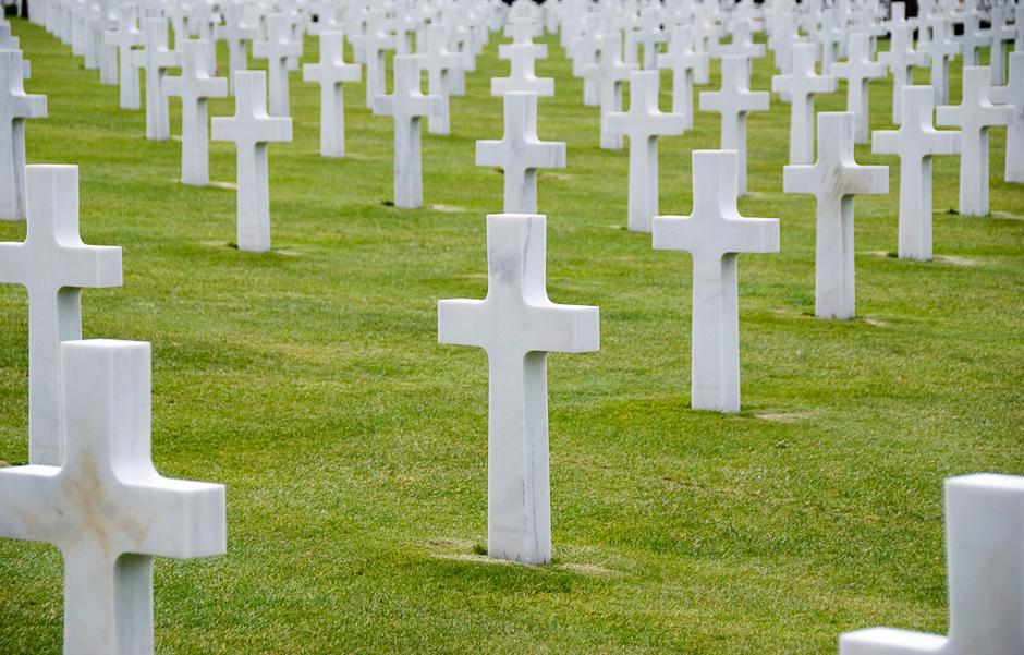 Cmentarz amerykańskich żołnierzy na Omaha Beatch