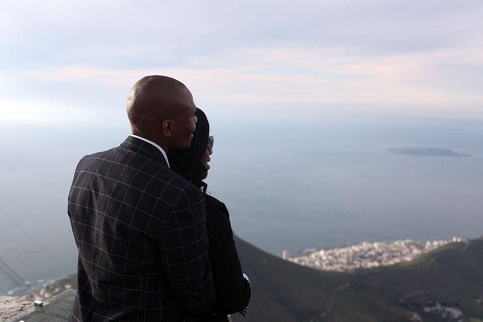 Zdjęcia z Kapsztadu. Widok z Góry Stołowej na wyspę Rubben