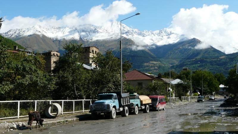 Mestia - miasto w gruzińskiej Swanetii