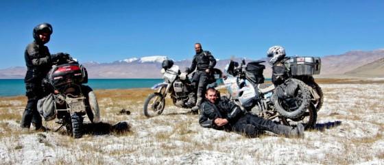 Członkowie motocyklowej wyprawy Na Jedwabnym Szlaku 2011