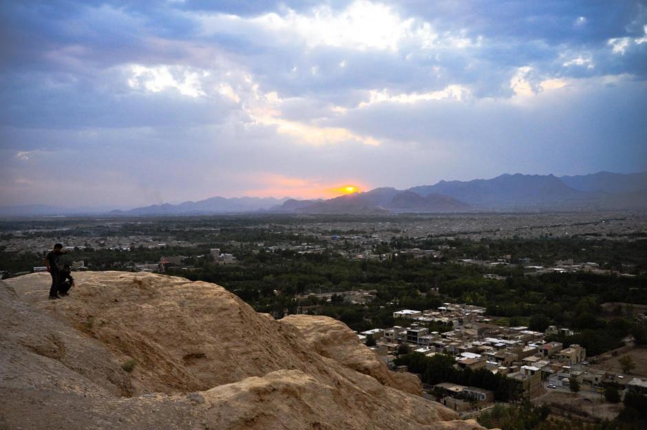 Zachód słońca nad irańskim Esfahanem