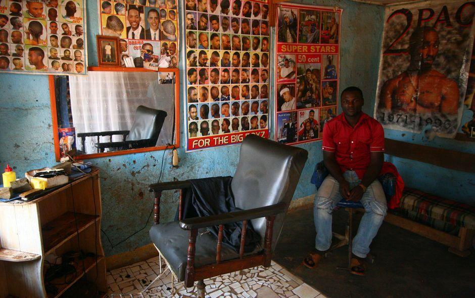 Fryzjer męski w Kamerunie