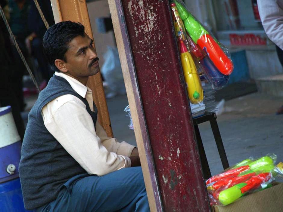 Sprzedawca zabawek z Delhi