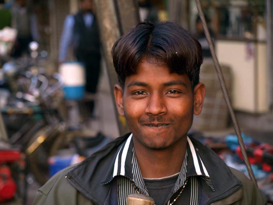Sprzedawca owoców z Delhi