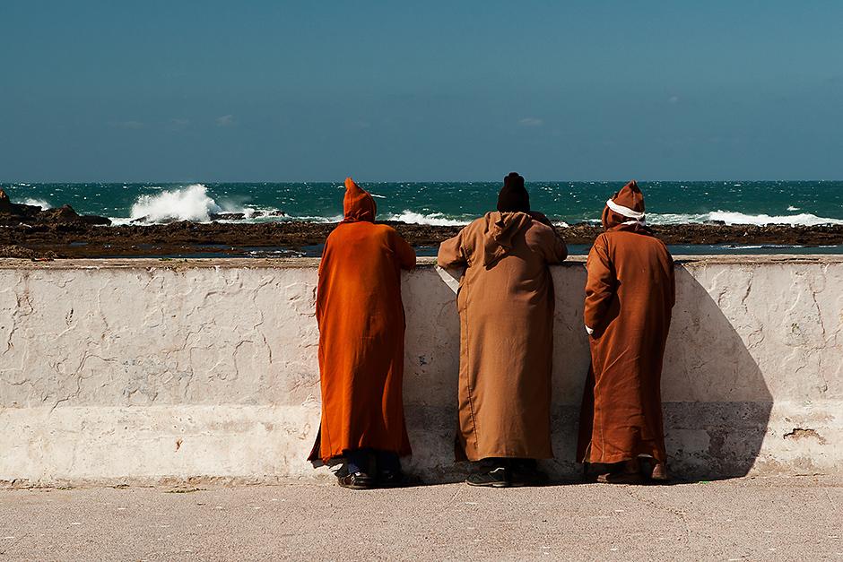 Marokańczycy w tradycyjnych strojach