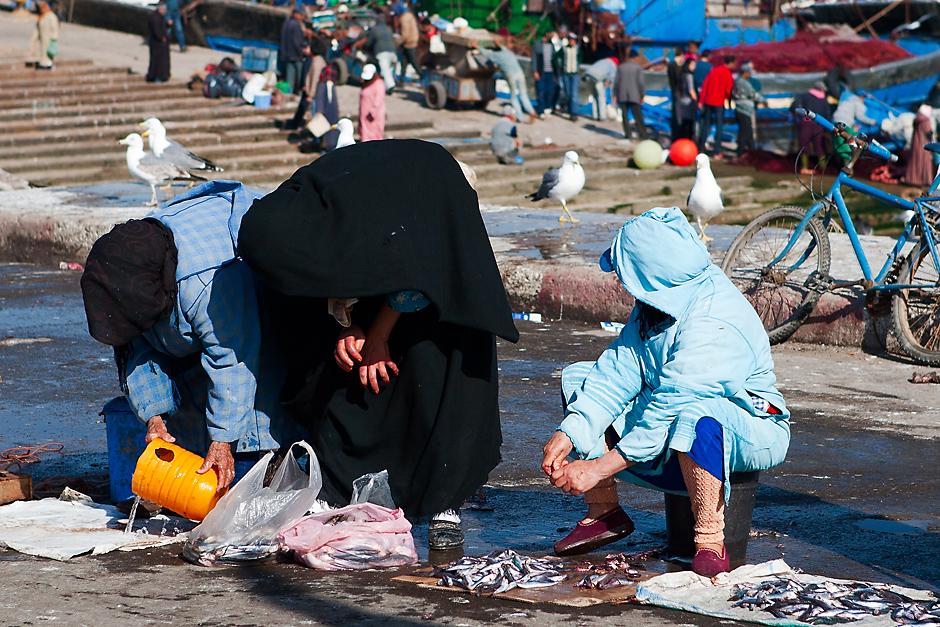 Marokańscy rybacy przy pracy