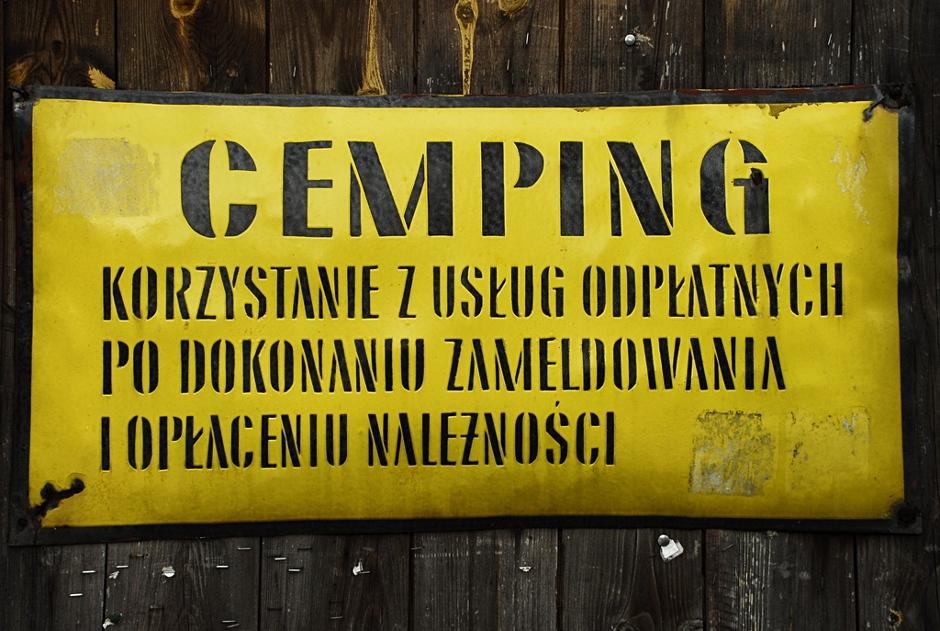 Cemping na Chrewcie w Bieszczadach