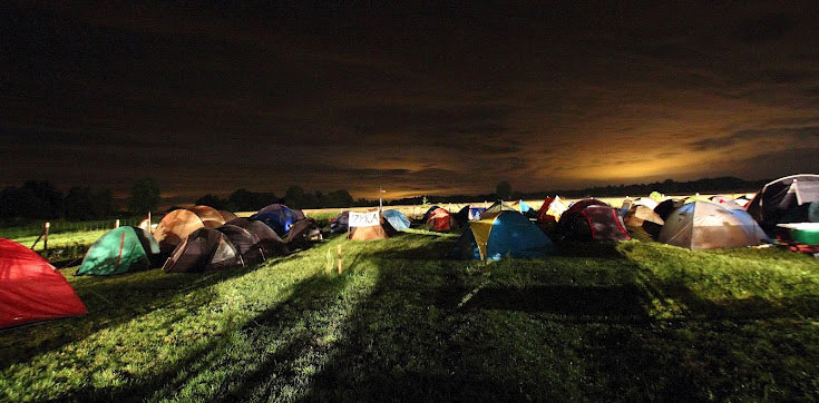 Pole namiotowe w Gorajcu