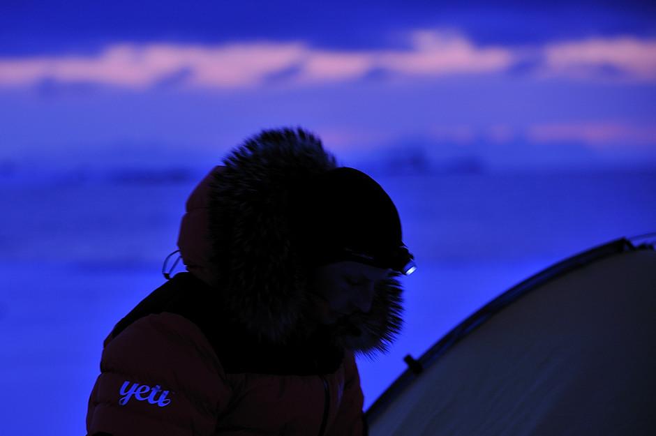 Nocleg pod Longyearbyen na Ziemi Torrella