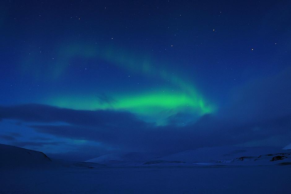 Zdjęcie zorzy polarnej